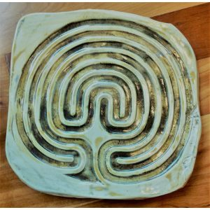 labyrinth finished in cream glaze